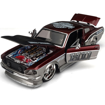 1:24 high simulation modified Mustang GT alloy car model collection car model children's toy car for gifts