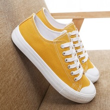 Canvas Fashion Shoes Woman 2019 Autumn New Candy Color Women Casual Flats Solid Sneakers