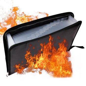 8 Size Portable Fireproof & Waterproof Document Envelope File Folder Cash Pouch Fireproof Money Bag Safe Bag For Home Office