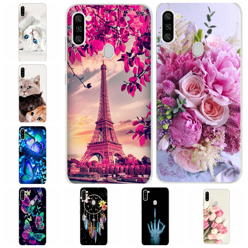 Soft Silicone TPU Art Pattern Phone Case For Samsung Galaxy A11 SM-A115F/DS Cover Shell For Samsung Galaxy M11 SM-M115F/DSN 6.4