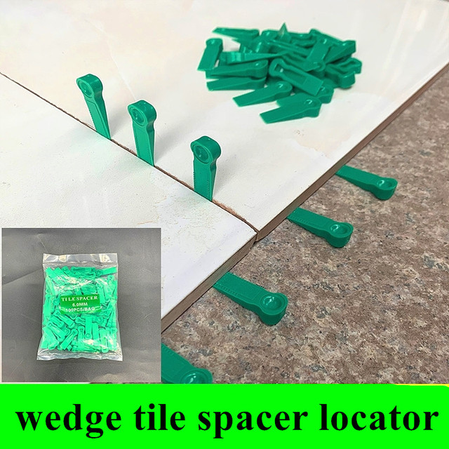 100pcs Plastic tile Wedge spacer 2mm reusable leveling clip Floor Locator wall ceramic tiling Laying nivelador Construction tool