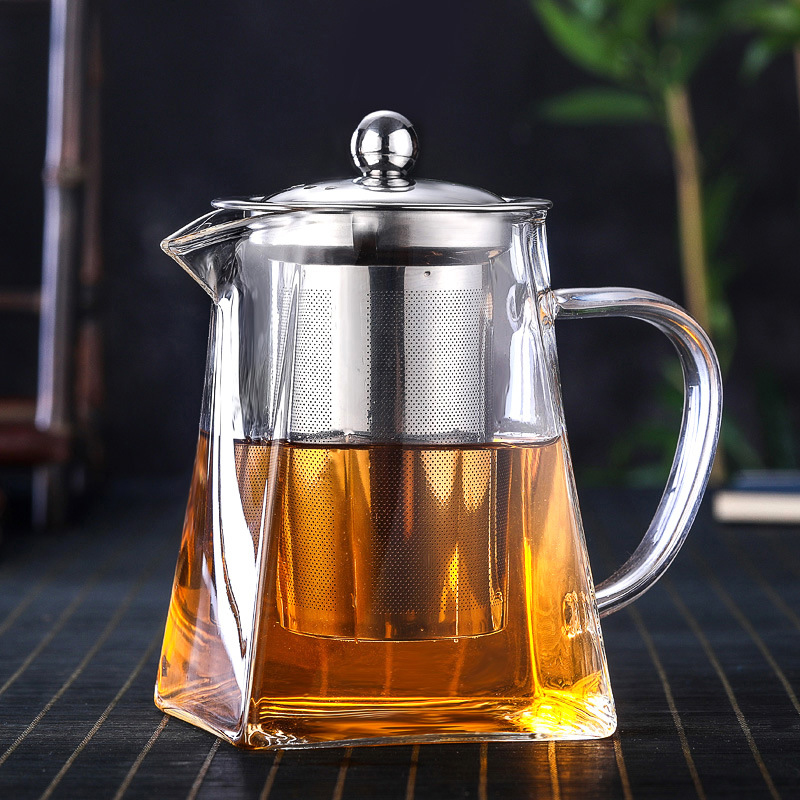 750ml Heat-resisting High Temperature Glass Teapot Flowers Coffee Tea Infusion Of Tea Kettle Transparent Kung Fu Tea Have Teapot