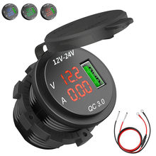 Nuovo CONTROLLO di QUALITÀ 3.0 USB Presa di Ricarica Presa di Corrente Digital Voltmetro Amperometro di Monitoraggio Per Auto Barca Marine Rv Moto #292507