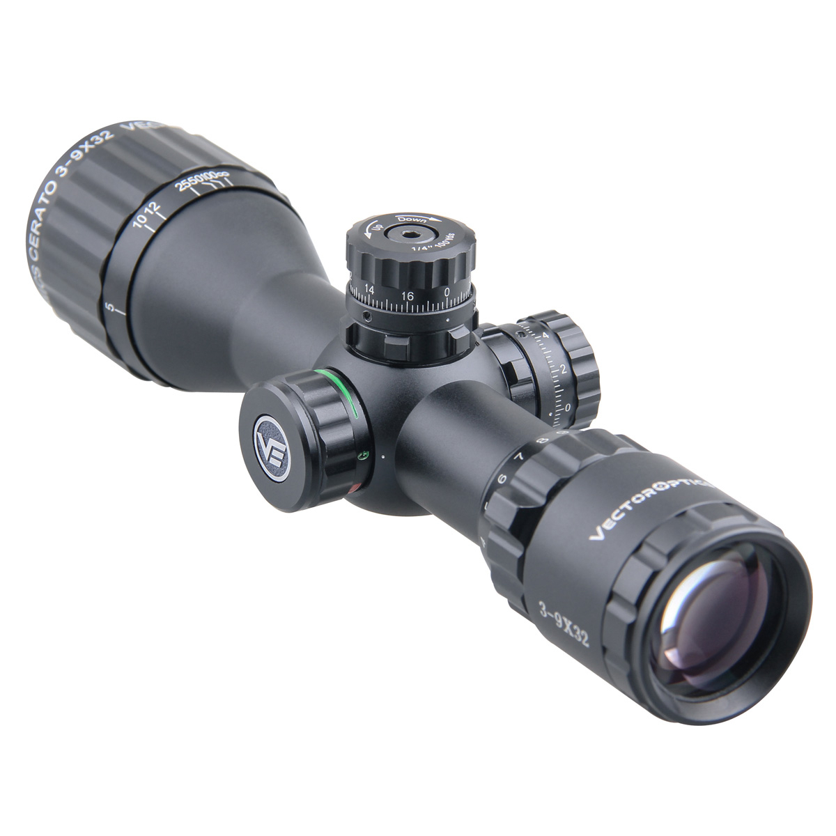 Image 3 - Vector Optics Cerato 3 9x32 Hunting Riflescope 1/4 MOA 25.4mm  Monotube Tactical Sniper Scope Ultra compact fit for .308 win  .338Riflescopes
