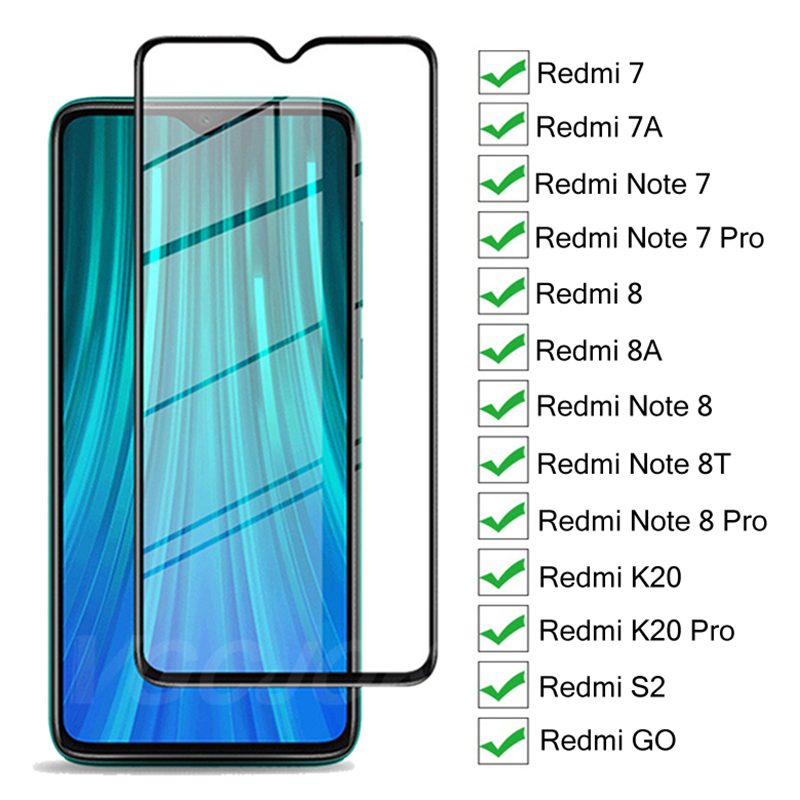 9H Hardness Tempered Glass For Xiaomi Redmi 7 7A 8 8A K20 S2 GO Screen Protector For Redmi Note 7 8 Pro 8T Protective Glass Film