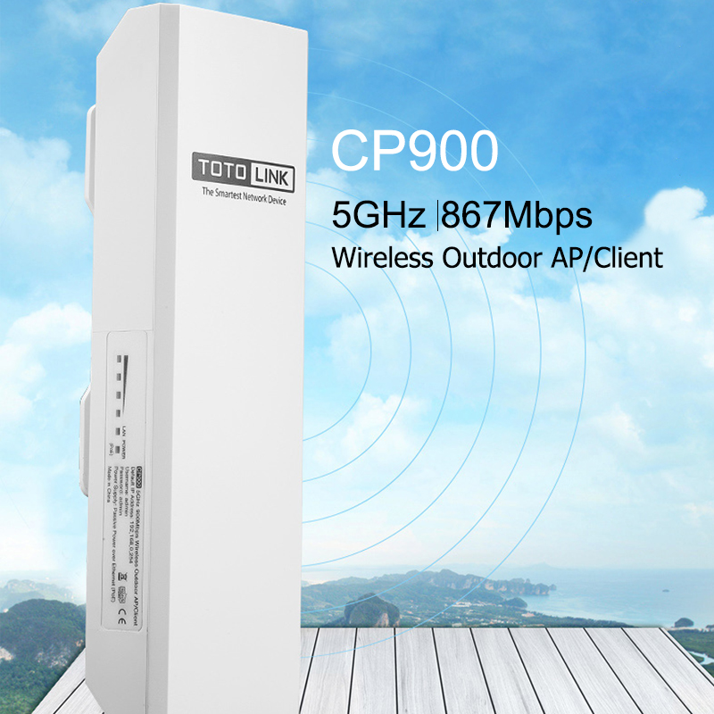 TOTOLINK CP900 15KM 5GHz 867Mbps Wireless Outdoor Access Point Wi-Fi Repeater For Outdoor Long Distance Wifi Coverage Easy Setup
