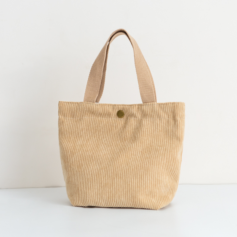 MABULA Casual Corduroy Shopping Bag High Quality Foldable Eco friendly Reusable Grocery Tote Handbag Lightweight Shoulder Bags