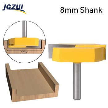 1pc 8mm Shank Cleaning Bottom frez s frez frezy do drewna 2-3 16 średnica cięcia do strugania powierzchni frez tanie i dobre opinie JGZUI Rohs CN (pochodzenie) Głowica frezarska Cleaning Bottom Router Bit Stop wolframu i kobaltu milling cutter