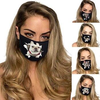 Breathable Face Mask Mascarilla Mascarar Adult Unisex Outdoor Sports Animal Mask Cotton Mask Masque