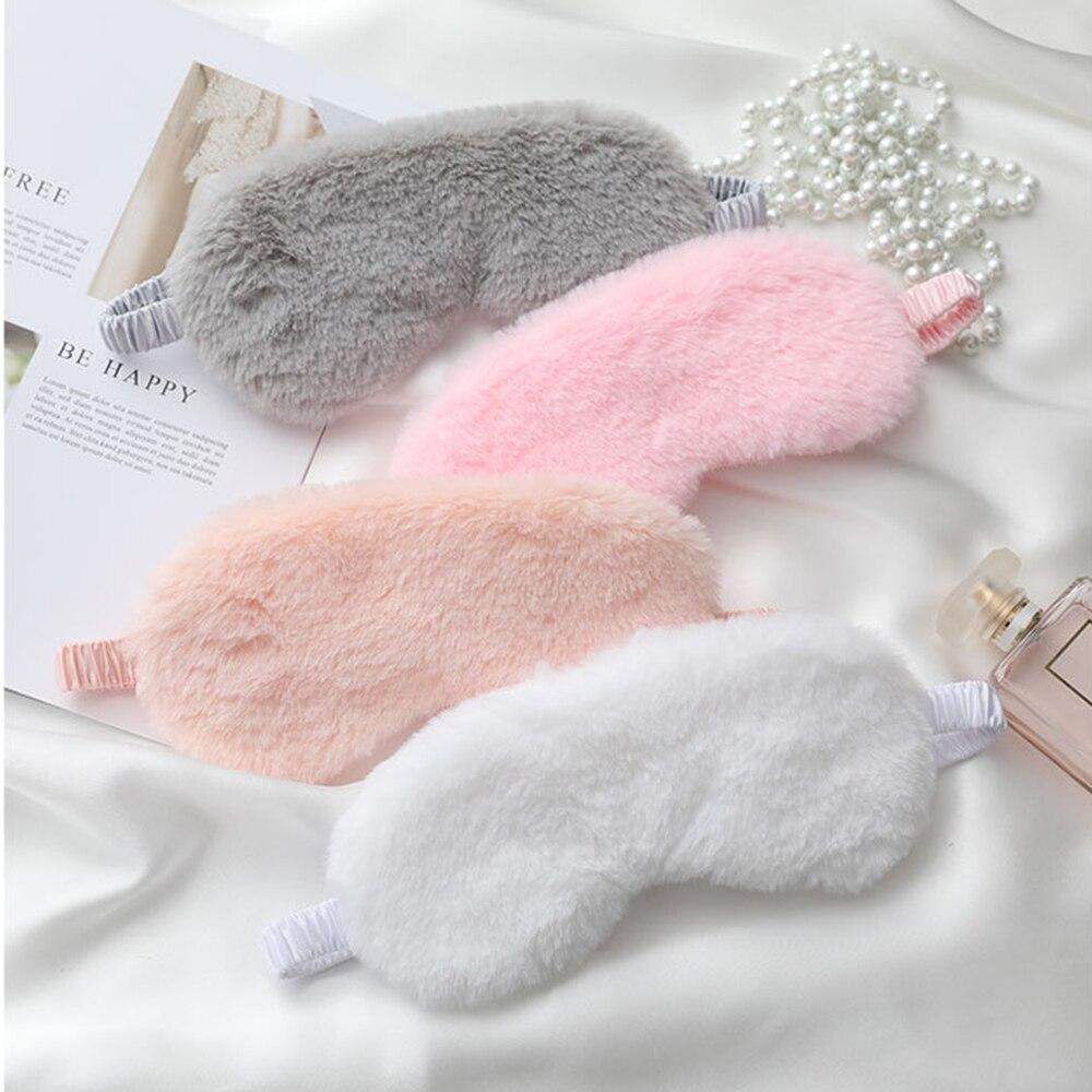 Plush Sleep Mask Sleeping Blindfold Soft Eye Masks Cute Love Adult Children Nap Health Eye Cover Eyepatch New 1 PC
