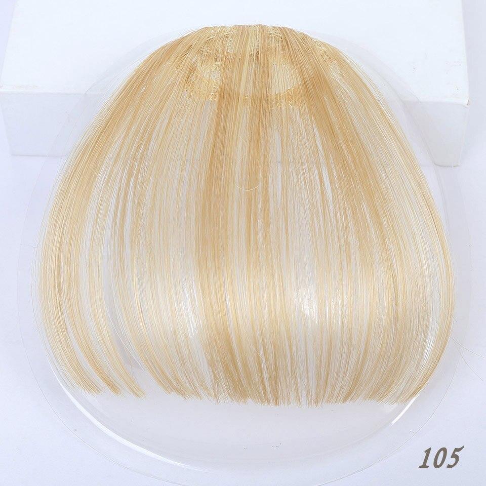 Манвэй, накладные волосы на заколках, накладные волосы с бахромой для женщин, заколки для волос с челкой, синтетические воздушные челки - Цвет: 4/30HL