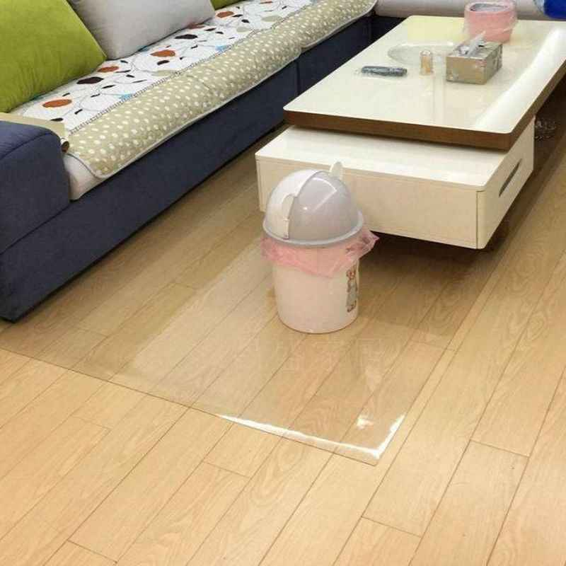 QQPQGG Neue Kunststoff Floormat PVC Transparent Tür Eintrag Matte Holz Boden Schutz Nicht-slip Teppich 1mm Wasserdicht Sets pads