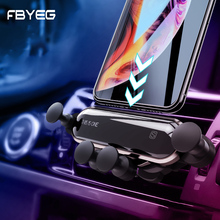 FBYEG NEW Universal Car Phone Holder Phone In Car Mobile Support Air Vent Mount Smartphone Support Mini Gravity Car Holder Mount usams cd47 creative 2 in 1 wireless charging gravity car air vent mount for smartphone
