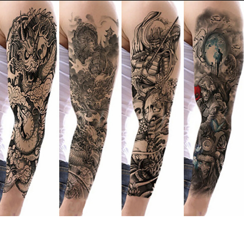 Large Skull Angel Rose Lotus Arm Sle