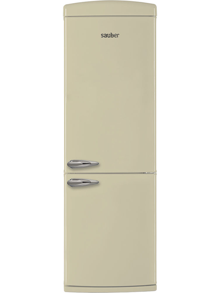 Refrigerator Combi Sauber Scr190B TO + High 190 Cm Width 60 Cm Cream