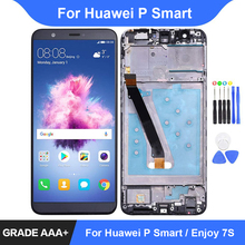 For Huawei P Smart LCD Display Touch Screen Digitizer Assembly Repair Parts for Enjoy 7S FIG LX1 LX3 Frame