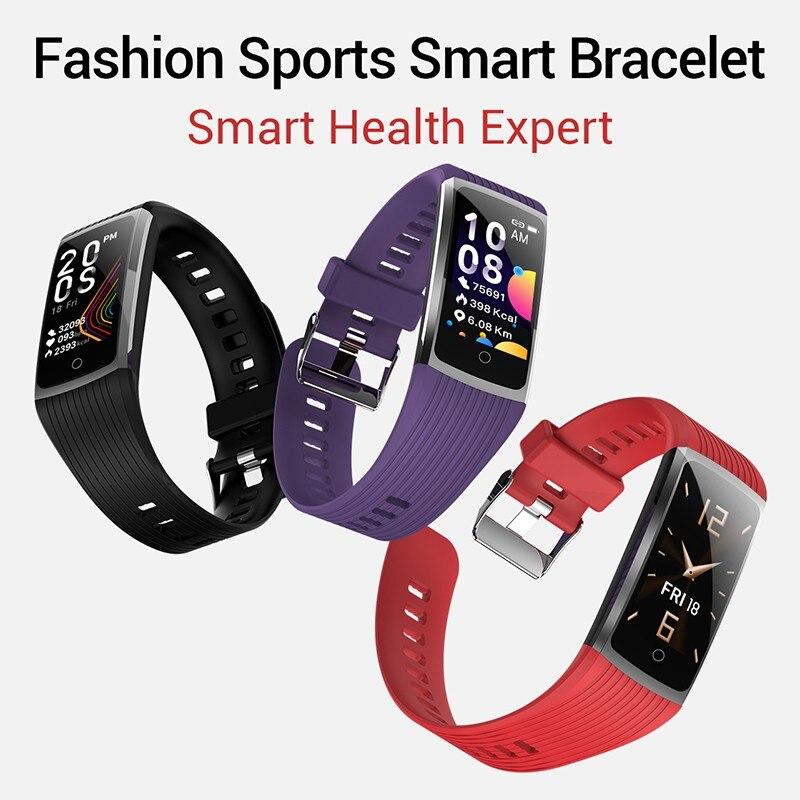Hb4252f2a8d0e4630b1da502ef92e981dT R12 Smart Band Bracelet Fitness Bracelet with Pressure Measurement Health Wristband Pedometer Heart Rate Monitor Cardio Bracelet