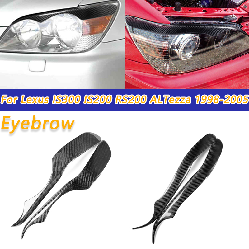 COOYIDOM 2PCS Carbon Fiber Eyelids Eyebrow Trim For TOYOTA Lexus IS300 IS200 <font><b>RS200</b></font> ALTezza 1998-2005 image