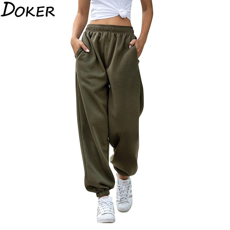 2020 Solid High Waist Pants Women Clothes Fashion Casual Streetwear Women Pencil Pants Plus Size Loose Sweat Pants Joggers Women