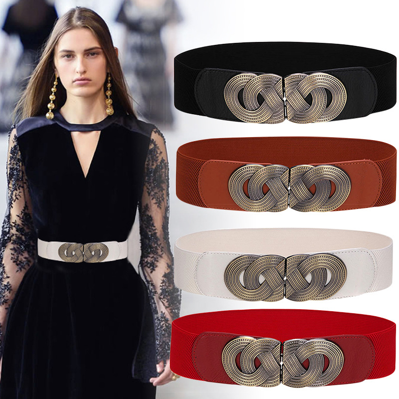 Vintage Corset Belt Woman Waist Wide Belts For Women 2020 Elastic Plus Size Belt Luxury Designer Ceinture Femme Dress Cummerbund
