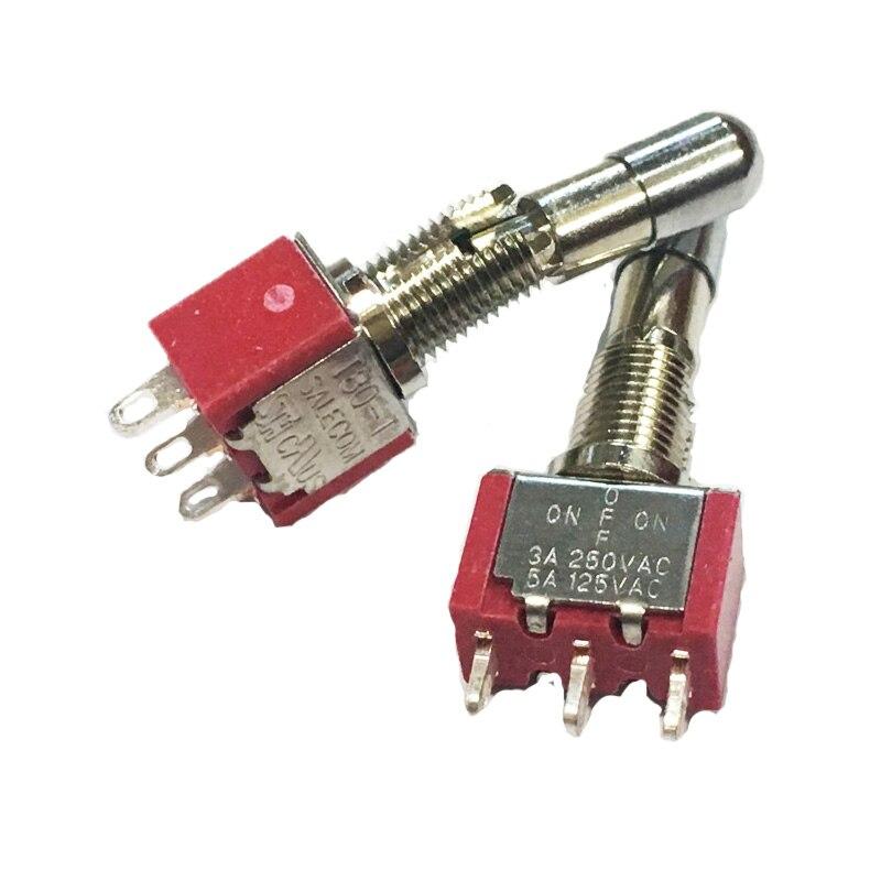 Interruptores De Balanc/ín Bot/ón De Bloqueo Autom/ático De Encendido//Apagado 250V 6A Pasador Basculante Redondo