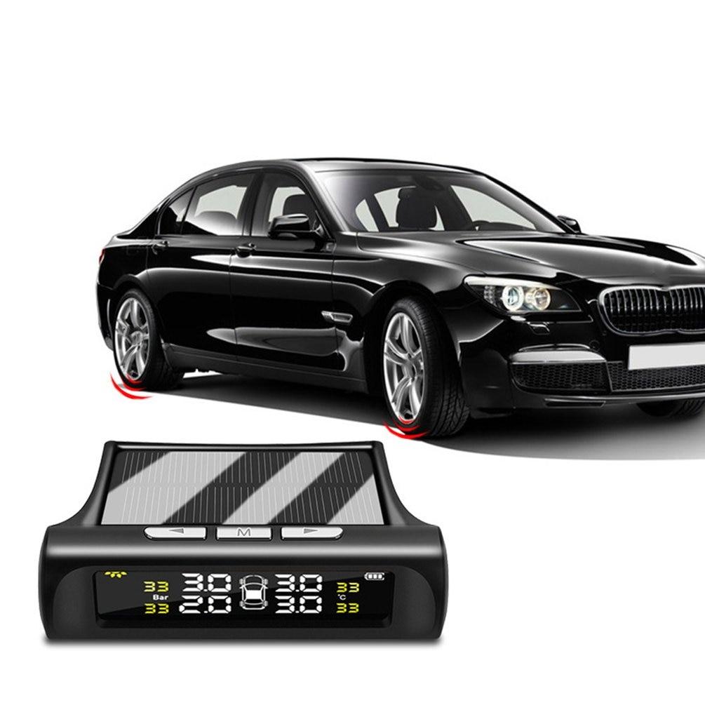 Car Tire Pressure Monitoring Tpms Wireless High Precision Solar External Buzzer Alarm Tire Pressure Detector