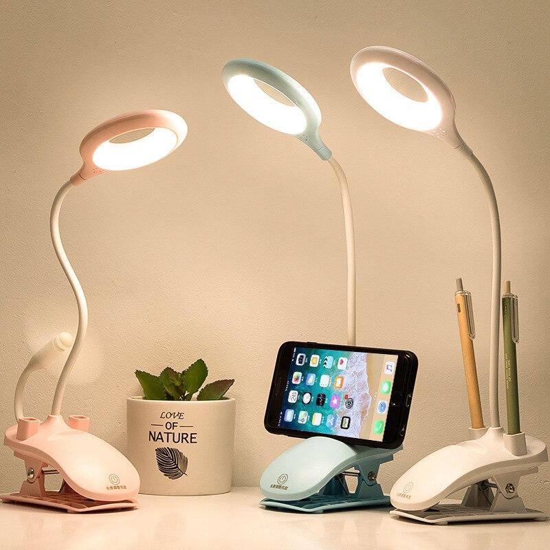 Настольный светильник светодиодный сенсорный выключатель с регулируемой яркостью флексографские принтеры Настольная лампа с зажимом для ...