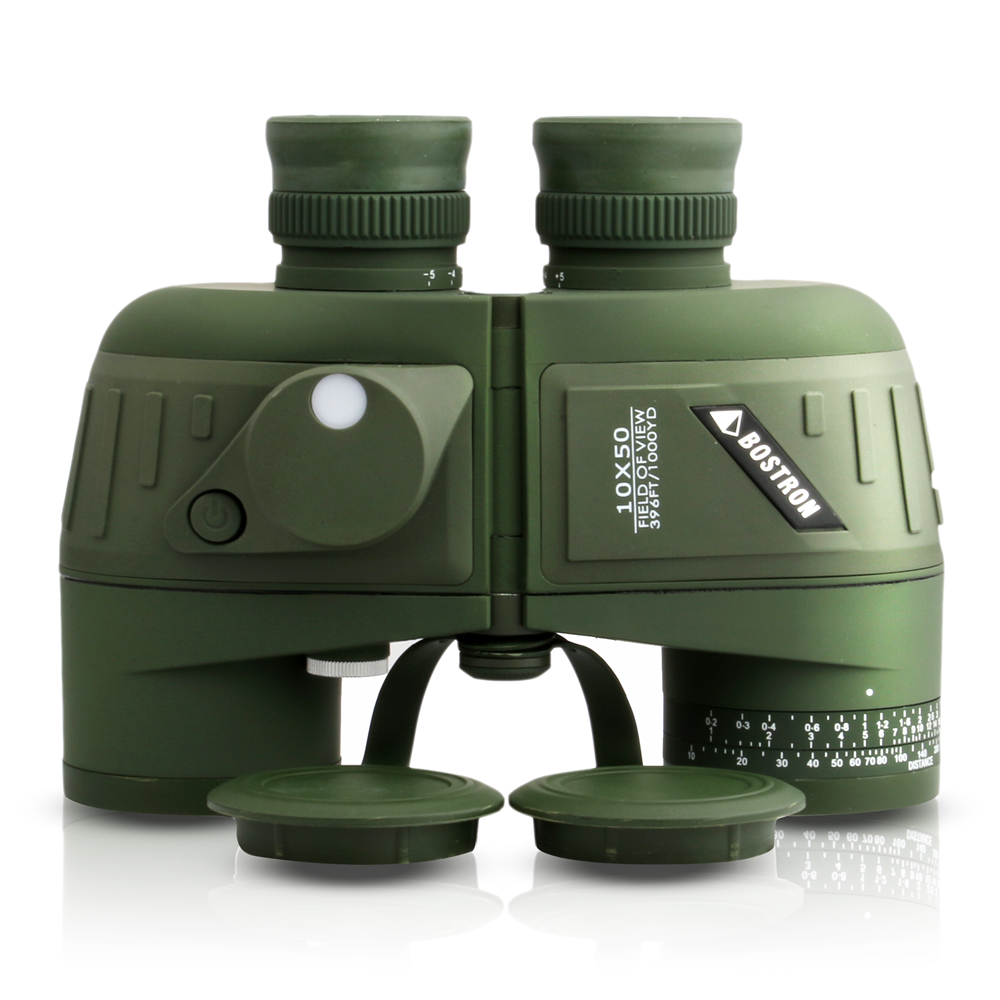 New Full Covered Compass Military Binoculars 10x50 Night Vision Stabilized Rangefinder Binoculars For Voyage Powerful Quality 1
