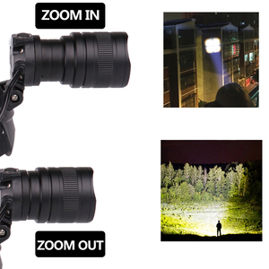 Image 4 - XHP70.2 LED المصباح 5000lm كشافات قوية مصباح يدوي قابل للتكبير الشعلة فانوس قوة البنك xhp50 led رئيس ضوء المصباح