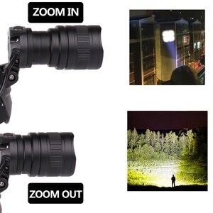 Image 4 - XHP70.2 głowica LED light 5000lm potężny reflektor latarka z zoomem latarka latarnia power bank xhp50 głowica led lampa światła