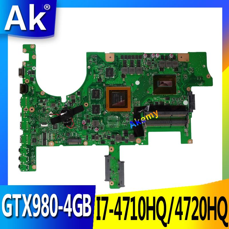 AK ROG <font><b>G751JY</b></font> Tested original mainboard I7-4710HQ/4750HQ SR18J GTX980-4GB <font><b>motherboard</b></font> for ASUS <font><b>G751JY</b></font> G751JT G751JL G751J G751 image
