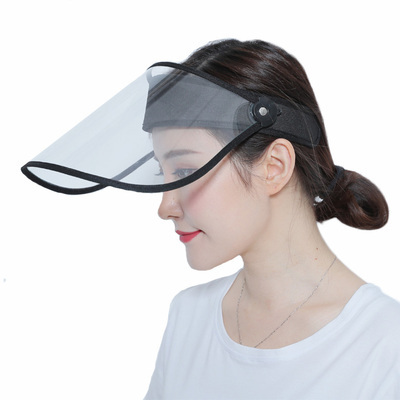 Transparent Protective Hat Visor Cap Flip Up Rotatable Adjustable Anti-Droplet Saliva Protective Face Mask UV Shield sun hat 5
