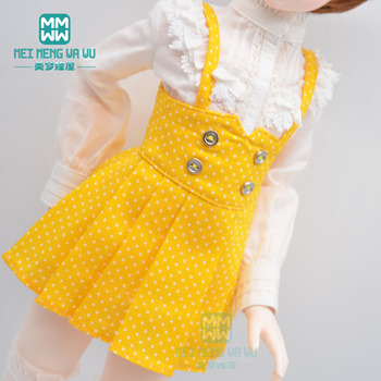 BJD doll clothes fits 40-45cm 1/4 MSD MK MYOU fashion polka dot suspender skirt red, yellow, blue image