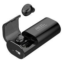 سماعة لاسلكية تعمل بالبلوتوث 5.0 سماعات مع حافظة شحن 4800MAh [كباور بانك] مع مايكروفون USB نوع C كابل TWS ستيريو داخل الاذن