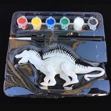 6 sztuk zestaw sztuka DIY zestaw kolorowanki dinozaur zwierzęta Mini piękny Graffiti Model malarski dzieci edukacyjne zabawki AA042 tanie tanio 8 ~ 13 Lat 14 lat 5-7 lat Żywica Zwierzęta i Natura NONE Chiny certyfikat (3C)