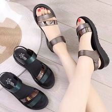 women sandals summer 2020 fashion designer female Wedge with Open Toe shoes woman sexy flat heels casual sandals Big size 35-40 women s summer sandals fashion party open toe heels shoes female classic belt buckle wedge shoes plus size 43
