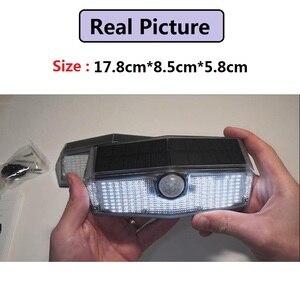 Image 2 - ترقية LITOM 200 LED ضوء الشمس IPX7 مستشعر حركة مضاد للماء الجدار الخفيفة 3 طرق قابل للتعديل و 270 درجة زاوية واسعة مصباح الحديقة