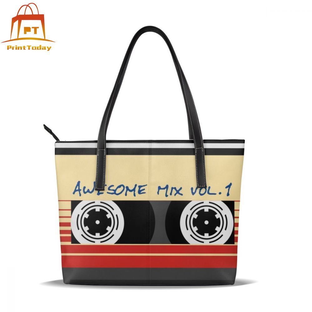 Guardians Of The Galaxy Handbag Guardians Of The Galaxy Top-handle Bags Large University Leather Tote Bag Women Handbags
