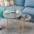 Z скандинавский журнальный столик для гостиной  современный минималистичный чайный столик из цельного дерева  чайный столик  многофункцион...