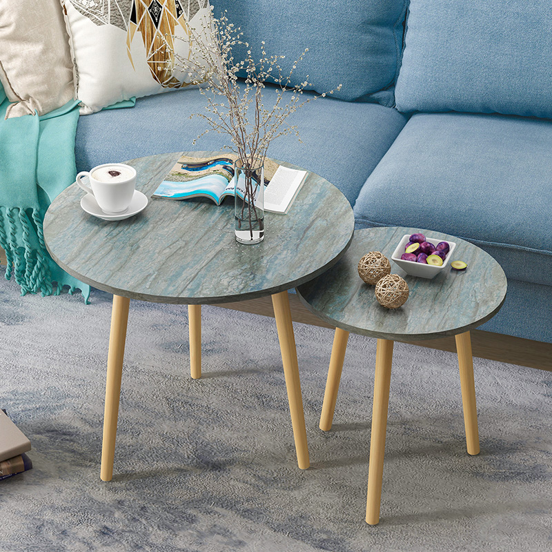 Z Nordic Living Room Coffee Table Modern Minimalist Tea Table Solid Wood Leg Tea Table Multifunctional Eating Table