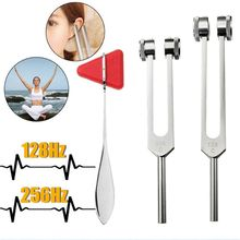 128Hz 256Hz l Neurological Tuning Fork Set With Triangle Percussion Hammer 8pcs set tuning fork 256 288 320 341 3 348 426 6 480 512hz om chakra high frequency crystal tuning fork purifying energy