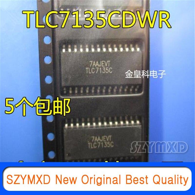 5 шт./лот новый оригинальный TLC7135CDWR TLC7135C лапками углублением SOP-28 точности аналого-цифрового преобразователя патч микросхема в наличии