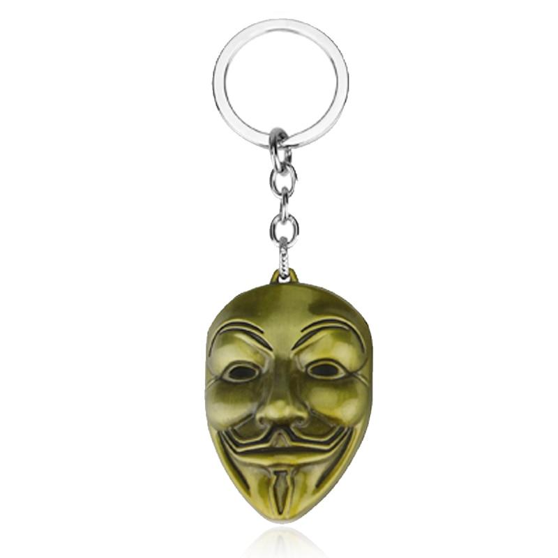Клоун V для вендетты брелок аноним Маска Гая металлический брелок для мужчин женщин детей Рождественский подарок - Цвет: kc0518