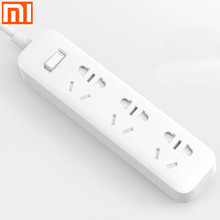 Original Xiaomi safe Power Strip 1.6m/1m Cable long Mi 3 Power Sockets Plug 250V 10A 2500W mi Extension Electrical Adapters NEW