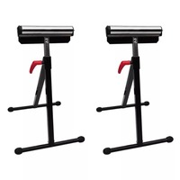 VidaXL Set Of 2 Adjustable Roller Stands Height Folding Roller Stand Pedestal Ball Bearing Roller Works With Table Miter Saws V3|Furniture Accessories|Furniture -