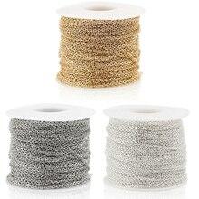 100m/roll Silber/Gold/Platin/Bronze Farbe Unverschweißten Oval Eisen Kreuz Ketten für DIY Halskette armband Schmuck Machen Materialien