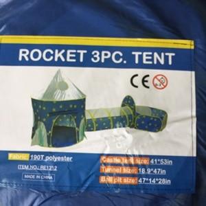 Image 5 - خيمة الأطفال 3 في 1 سفينة الفضاء خيمة الفضاء خيمة يورت لعبة منزل سفينة الصواريخ تلعب خيمة بركة الكرة