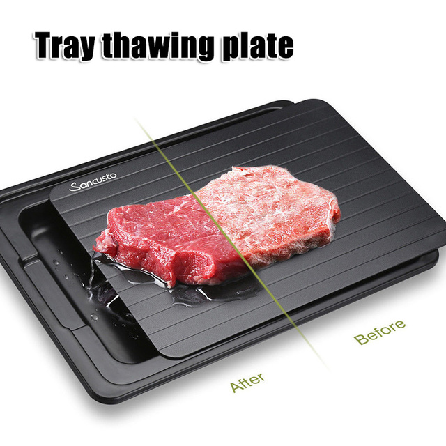 1pc Fast Defrost Tray Fast Thaw Frozen Meat Fish Sea Food Quick Defrosting Plate Board Tray Kitchen Gadget Tool