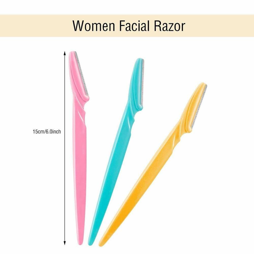 Купить 6 шт для женщин бровей бритва триммер лезвие уход за кожей лица