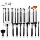 Jessup 34PCS Professional Makeup Brushes Set Black / Silver Eyeshadow brush Make up Brush Powder Foundation Soft Wool Fiber